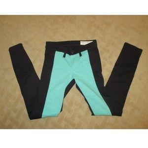 Rag & Bone Intermix Black/Teal Color Block Jean